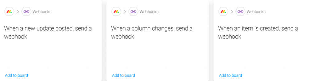 Webhook automaatiot