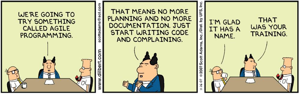 Dilbert Agile ketterät menetelmät projektinhallinnassa