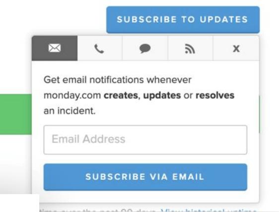 status päivitykset sähköpostiin