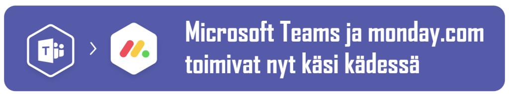 Microsoft Teams monday.com integraatio